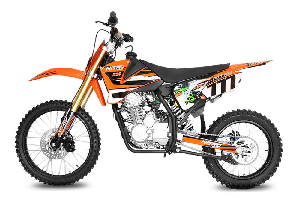 250cc Hurricane Dirtbike 5-Gang Manuel 19/16 E-/Kick-Start