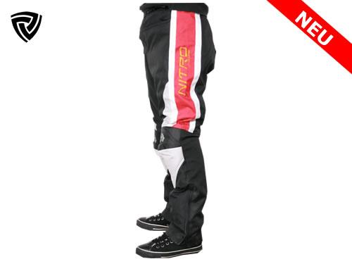 NITRO motoristične hlače rdeče