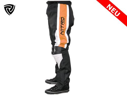 NITRO  motoristične hlače oranžne